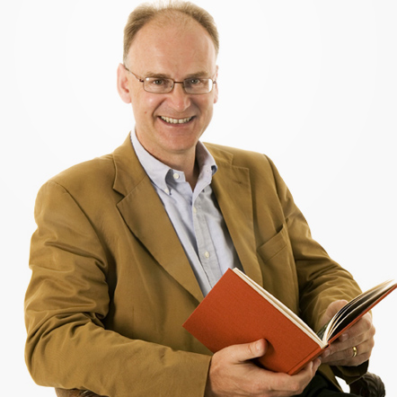 Matt Ridley reading a book
