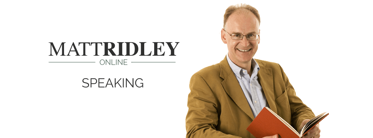 Matt Ridley Speaking